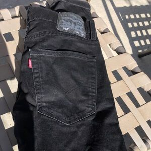 Levi's 512 slim fit 30x32 Black jeans